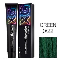 Paul Mitchell The Color XG - Перманентная крем-краска GREEN 0/22 90 мл