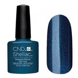 CND Shellac Peacock Plume - Гель-лак для ногтей 7,3 мл темно-синий шеллак c микроблеском