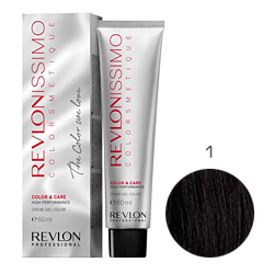 Revlon Professional Revlonissimo Colorsmetique Color & Care - Крем-гель 1 Иссиня-черный 60 мл