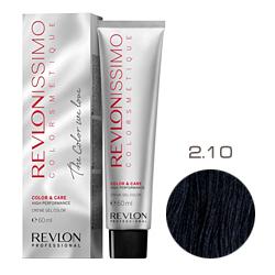 Revlon Professional Revlonissimo Colorsmetique Color & Care - Крем-гель 2.10 Черный насыщенно пепельный 60 мл