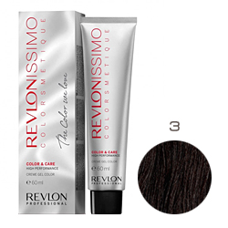 Revlon Professional Revlonissimo Colorsmetique Color & Care - Крем-гель 3 Темно-коричневый 60 мл