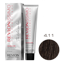 Revlon Professional Revlonissimo Colorsmetique Color & Care - Крем-гель 4.11 Коричневый гипер пепельный 60 мл