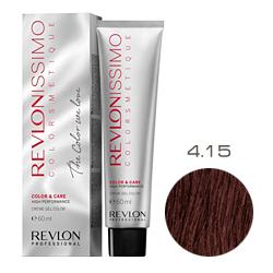 Revlon Professional Revlonissimo Colorsmetique Color & Care - Крем-гель 4.15 Коричневый пепельно-махагоновый 60 мл