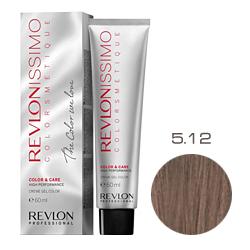 Revlon Professional Revlonissimo Colorsmetique Color & Care - Крем-гель 5.12 Светло-коричневый пепельно-переливающийся 60 мл