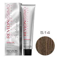 Revlon Professional Revlonissimo Colorsmetique Color & Care - Крем-гель 5.14 Светло-коричневый пепельно-медный 60 мл
