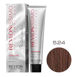 Revlon Professional Revlonissimo Colorsmetique Color & Care - Крем-гель 5.24 Светло-коричневый переливающийся медный 60 мл