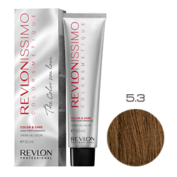 Revlon Professional Revlonissimo Colorsmetique Color & Care - Крем-гель 5.3 Светло-коричнеый золотистый 60 мл