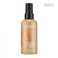 Redken All Soft Argan-6 Oil - Аргановое масло для блеска и восстановления волос 90 мл