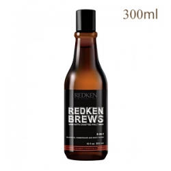 Redken Brews 3-in-1 Shampoo, Conditioner And Body Wash - 3 в 1 шампунь, кондиционер и гель для душа 300 мл