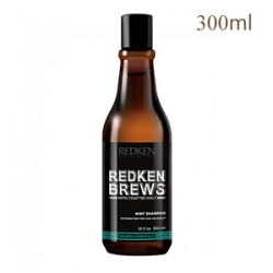 Redken Brews Mint Shampoo - Тонизирующий шампунь для волос 300 мл