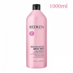 Redken Diamond Oil Glow Dry Gloss Shampoo - Шампунь для блеска волос 1000 мл