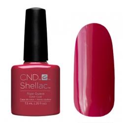 CND Shellac Ripe Guava - Гель-лак для ногтей 7,3 мл глянцевый бордовый, без перламутра и блесток