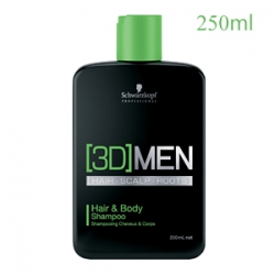 Schwarzkopf Professional [3D]Men Hair And Body Shampoo - Шампунь для  волос и тела 250 мл