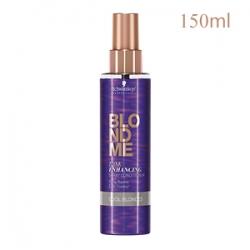 Schwarzkopf Professional BlondMe Cool Ice Spray Conditioner - Спрей-кондиционер для холодных оттенков блонд 150 мл