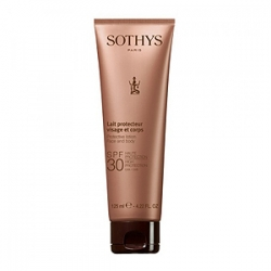 Sothys Sun Care Protective Lotion Face And Body SPF30 - Эмульсия с SPF30 для Лица и Тела 125 мл