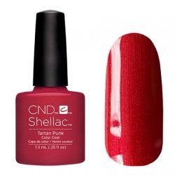 CND Shellac Tartan Punk- Гель-лак для ногтей 7,3 мл красный оттенок с микроблеском
