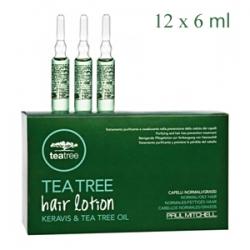 Paul Mitchell Tea Tree Special Hair Lotion Keravis & Tea Tree Oil - Регенерирующие ампулы против выпадения волос 12 х 6 мл