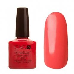 CND Shellac Гель-лак для ногтей Tropix 7,3 мл коралловый, красно-рыжий, без перламутра.