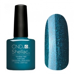CND Shellac Viridian Veil - Гель-лак для ногтей 7,3 мл насыщенный бирюзовый, перламутровый, плотный