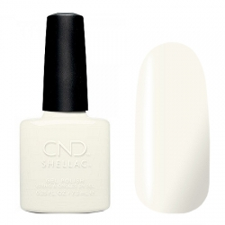 CND Shellac White Wedding - Гель-лак для ногтей 7,3 мл белый, без перламутра и блесток, плотный