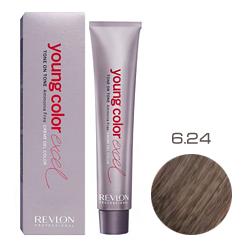 Revlon Professional Young Color Excel Creme Gel Color - Крем-краска 6.24 Темный блондин мокка 70 мл