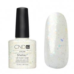 CND Shellac Гель-лак для ногтей Zillionaire 7,3 мл прозрачный с голографическими блестками.