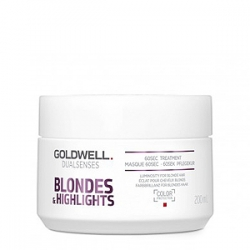 Goldwell Dualsenses Blondes And Highlights 60sec Treatment - Интенсивный уход за 60 секунд 200мл