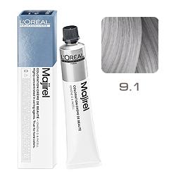 Loreal Majirel Cool Inforced - Краска для волос 9.1 Очень светлый блондин натурально-перламутровый 50 мл