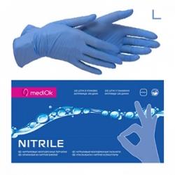 MediOK - Перчатки нитриловые неопудренные - Синие размер L 100шт / 50пар