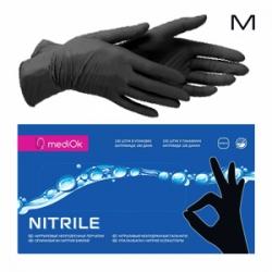 MediOK - Перчатки нитриловые неопудренные - Черные размер M 100шт / 50пар