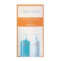 Moroccanoil  Duo Repair - Увлажняющий восстанавливающий набор, шампунь + кондиционер 500+500мл