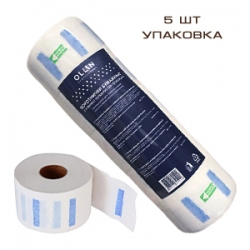 OLLIN Professional - Воротнички бумажные с клеевой полоской для фиксации 5 рулонов х 100 шт