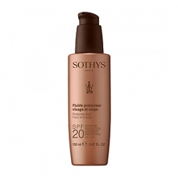 Sothys Sun Care Protective Fluid Face And Body SPF20 - Сотис Молочко с SPF20 для Лица и Тела 150 мл