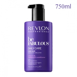 Revlon Professional Be Fabulous Daily Care Fine Hair C.R.E.A.M. Lightweight Conditioner - Очищающий кондиционер для тонких волос 750 мл