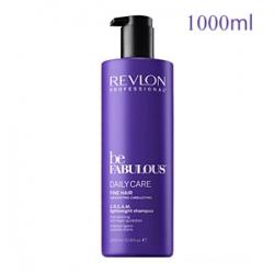 Revlon Professional Be Fabulous Daily Care Fine Hair C.R.E.A.M. Lightweight Shampoo - Очищающий шампунь для тонких волос 1000 мл